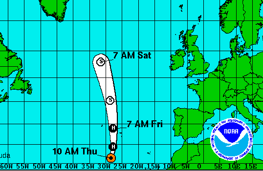 Hurricane Alex - Hits the Azores