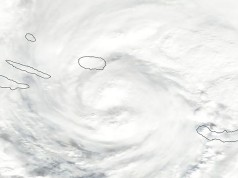 Tropical Storm Alex making landfall in the Azores