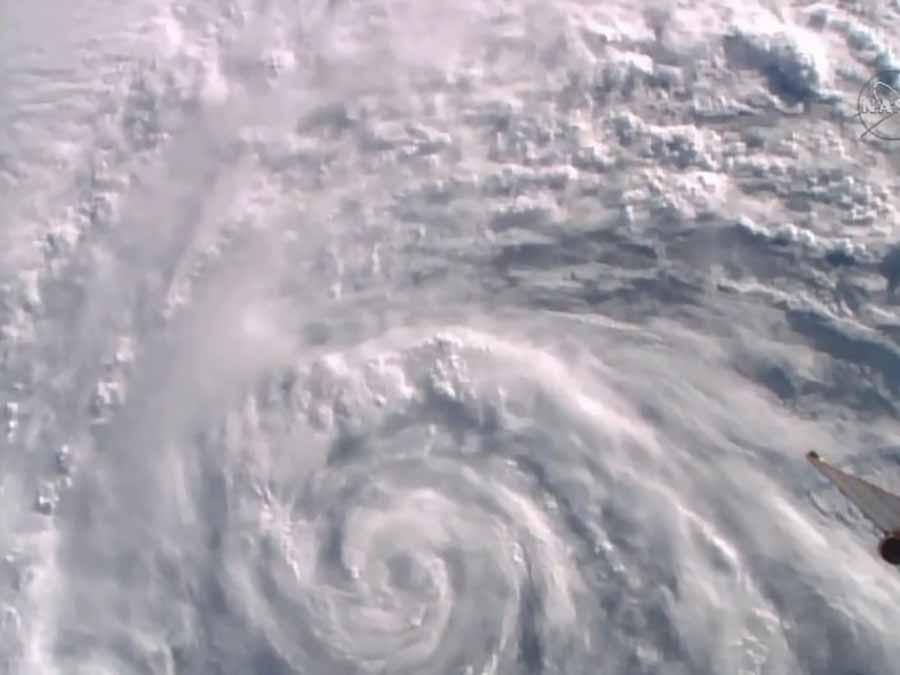 The Space_Station flew over Hurricane Alex in the Atlantic Ocean