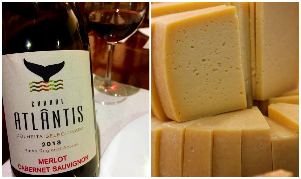 Azorean Cheese and Wine.
