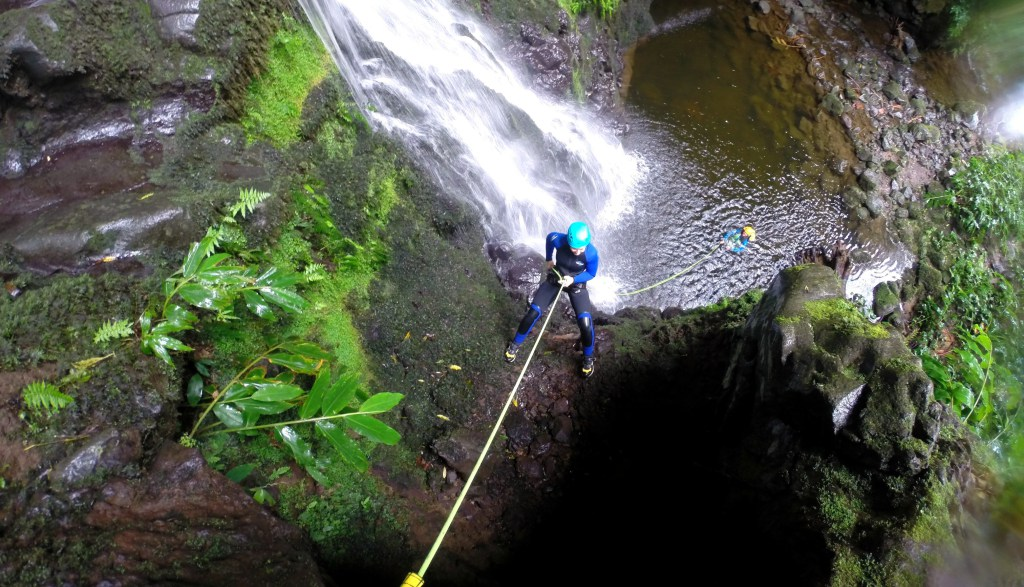 Abseilling on Sao Miguel
